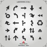 Icone della freccia impostate Fotografie Stock Libere da Diritti
