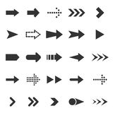 Icone della freccia su fondo bianco Fotografie Stock