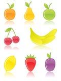 Icone della frutta. Fotografia Stock