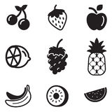 Icone della frutta Immagini Stock Libere da Diritti