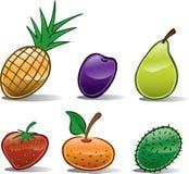 Icone della frutta di base Fotografie Stock Libere da Diritti