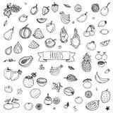 Icone della frutta impostate Fotografia Stock