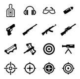 Icone della gamma di fucilazione Fotografia Stock Libera da Diritti
