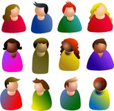 Icone della gente Immagine Stock Libera da Diritti