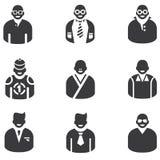 Icone della gente Immagini Stock Libere da Diritti
