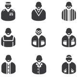 Icone della gente Immagini Stock