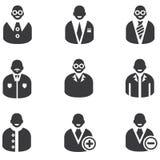 Icone della gente Immagine Stock