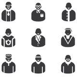 Icone della gente Fotografie Stock Libere da Diritti