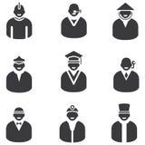Icone della gente Fotografia Stock Libera da Diritti