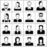 Icone della gente Fotografia Stock