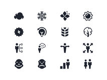 Icone della gente ed ambientali Serie di Lyra Immagine Stock