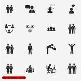 Icone della gente impostate Fotografia Stock Libera da Diritti