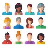 Icone della gente impostate Concetto della squadra Fotografia Stock Libera da Diritti