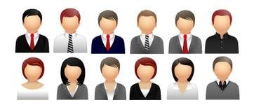 Icone della gente per il web Fotografia Stock