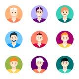 Icone della gente Raccolta piana delle icone della gente illustrazione vettoriale