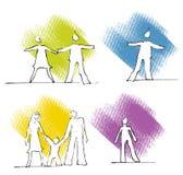 Icone della gente - scelga, coppia, famiglia illustrazione di stock