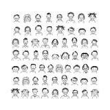 Icone della gente, schizzo per la vostra progettazione Fotografia Stock Libera da Diritti