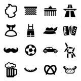 Icone della Germania Immagine Stock