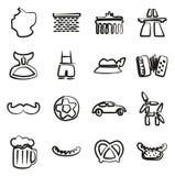 Icone della Germania a mano libera Immagini Stock