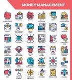 Icone della gestione del denaro illustrazione vettoriale