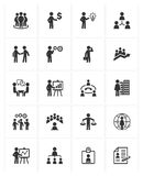 Icone della gestione di impresa Fotografia Stock Libera da Diritti