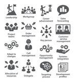 Icone della gestione di impresa Pacchetto 02 Immagini Stock