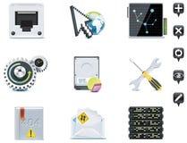 Icone della gestione di server. Parte 3 Fotografia Stock Libera da Diritti