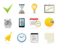 Icone della gestione di tempo Immagini Stock Libere da Diritti