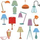 Icone della lampada Immagini Stock Libere da Diritti
