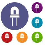 Icone della lampada dell'alogeno messe Immagini Stock