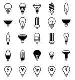 Icone della lampadina - illustrazione Immagine Stock Libera da Diritti