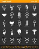 Icone della lampadina - illustrazione Immagine Stock