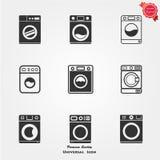 Icone della lavatrice Immagini Stock Libere da Diritti