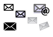 Icone della lettera Immagini Stock