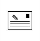 Icone della lettera dell'appunto Immagini Stock Libere da Diritti