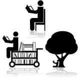 Icone della lettura illustrazione vettoriale