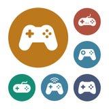 Icone della leva di comando del gioco messe Immagini Stock
