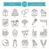 20 icone della linea del partito royalty illustrazione gratis