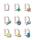 Icone della lista di assegno Fotografia Stock Libera da Diritti