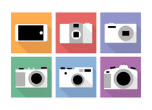 Icone della macchina fotografica Fotografia Stock Libera da Diritti