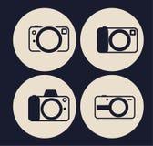 Icone della macchina fotografica messe illustrazione vettoriale