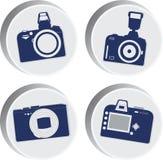 Icone della macchina fotografica quattro della foto Imagefor di vettore Fotografia Stock Libera da Diritti