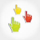 Icone della mano. Fotografie Stock Libere da Diritti