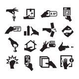 Icone della mano Fotografie Stock