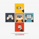 Icone della mano Fotografia Stock Libera da Diritti