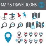 Icone della mappa Immagini Stock Libere da Diritti