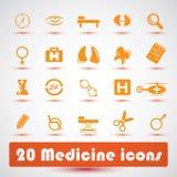 Icone della medicina Fotografia Stock Libera da Diritti
