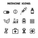 Icone della medicina Fotografia Stock