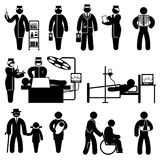 Icone della medicina della gente royalty illustrazione gratis