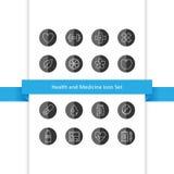 Icone della medicina e di salute messe Fotografie Stock Libere da Diritti